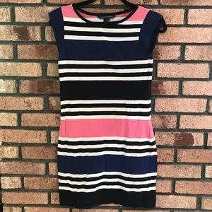 French connection stripped T-shirt dress
